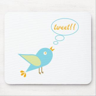 Cute tweet mouse pad