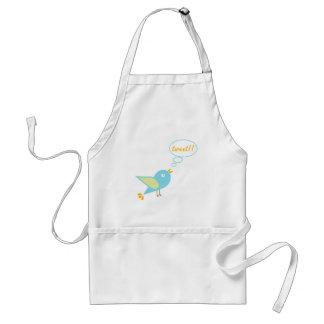 Cute tweet standard apron