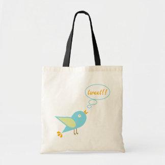Cute tweet tote bag