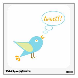 Cute tweet wall sticker