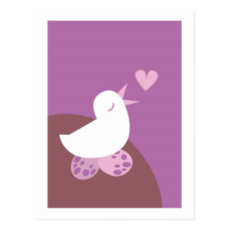 Cute tweeter love bird postcard