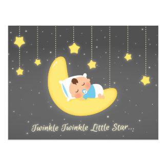 Cute Twinkle Twinkle Little Star Baby Newborn Postcard