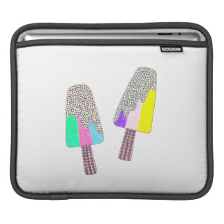 Cute Two Colorful Popsicles iPad Sleeve