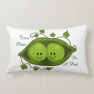Cute Two Peas In A Pod Lumbar Pillow