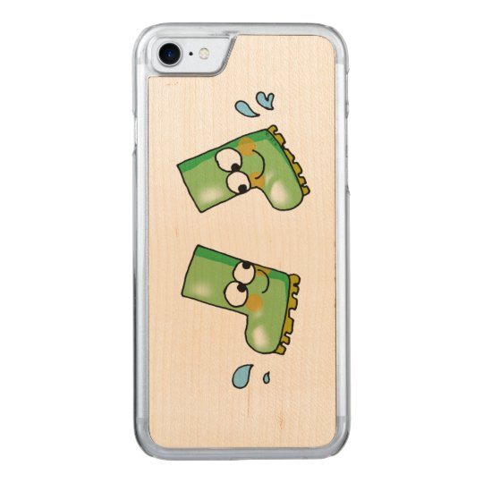cute two rain boots cartoon carved iPhone 7 case