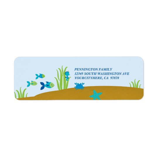 Cute under the sea avery address label