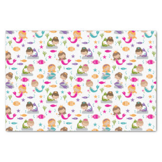 Cute Under the Sea Mermaid Tissue Paper