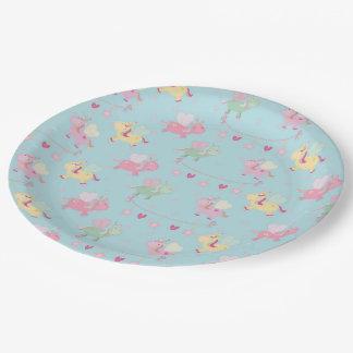 Cute unicorn 9 inch paper plate