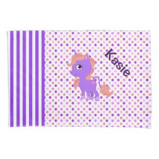 Cute Unicorn and Polka Dot Pillow Case Pillowcase
