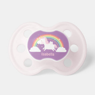 Cute Unicorn and Rainbow For Baby Girls Pacifier