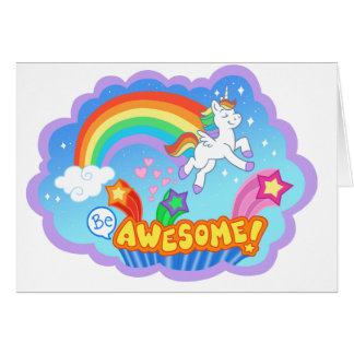 Cute unicorn card