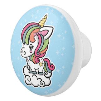 Cute Unicorn ceramic knob