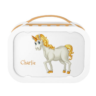 Cute Unicorn custom text lunch box