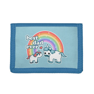 Cute Unicorn Dad Trifold Wallet