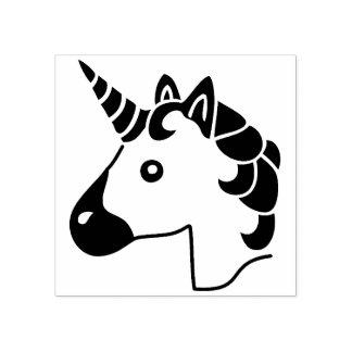 Cute Unicorn emoji stamp Stamp