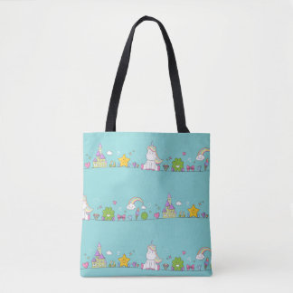 Cute unicorn fairytale pattern bag
