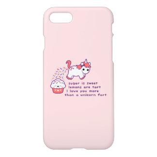 Cute Unicorn Fart iPhone 7 Case