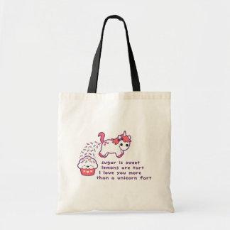 Cute Unicorn Fart Tote Bag