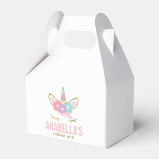 Cute Unicorn Girls Birthday Party Favor Box
