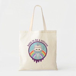 Cute Unicorn Ice Cream Cone Tote Bag