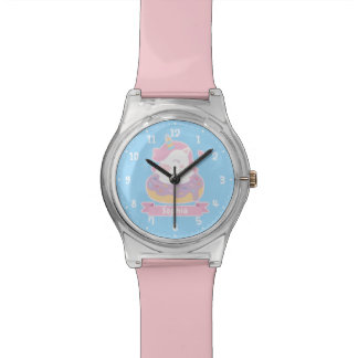 Cute Unicorn in Donut Kids Personalized Watch