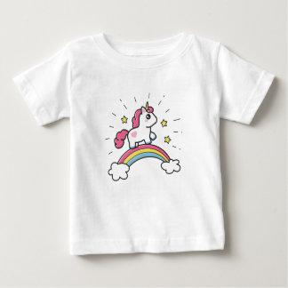 Cute Unicorn On A Rainbow Design Baby T-Shirt