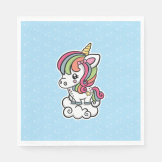 Cute Unicorn paper napkins