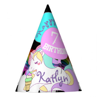 Cute Unicorn Party Favor Hat Personalized