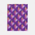 Cute Unicorn Poop Emoji Fleece Blanket