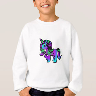 Cute Unicorn Purple Turquoise Green Sweatshirt