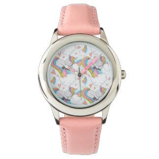 Cute Unicorn Watercolor Watch