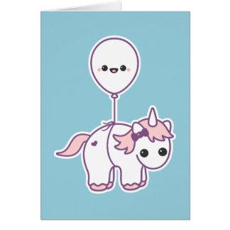 Cute Unicorn with Balloon Card