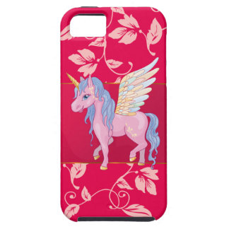 Cute Unicorn with rainbow wings illustration Case For The iPhone 5