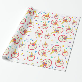 Cute Unicorn Wrapping Paper Roll
