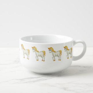 Cute Unicorns custom name soup mugs