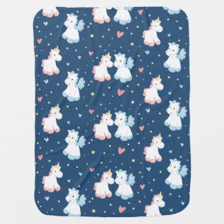 Cute Unicorns in Love Receiving Blanket