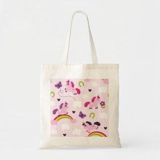 Cute Unicorns Pattern Tote Bag