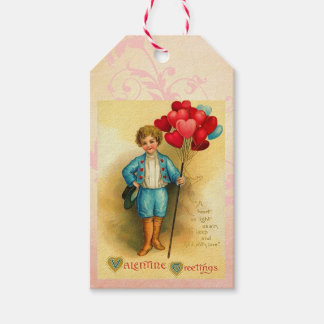 Cute Valentine Balloon Greetings Hanging Cards Pack Of Gift Tags