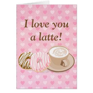 Cute Valentine Latte Card