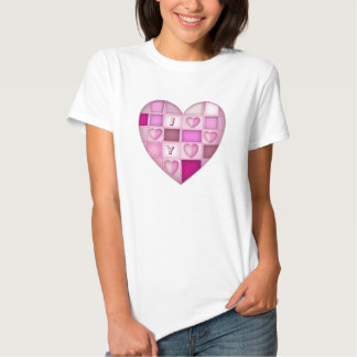 "Cute Valentine""s Tee with Heart & Text"
