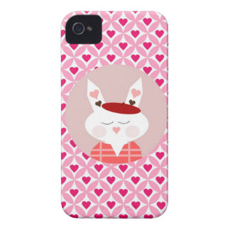 Cute Valentine's Day Bunny Pink Red Hearts Gifts iPhone 4 Covers