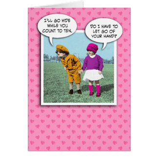 Cute Valentine's Day card: Hide and Seek Card