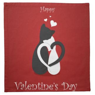 Cute Valentine's Day Cats Love Napkin