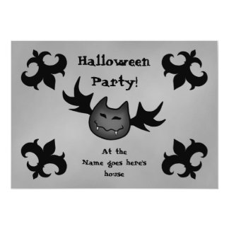 "Cute vampire bat funny Halloween party 5x7 5"" X 7"" Invitation Card"