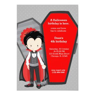 "Cute vampire birthday 5"" x 7"" invitation card"