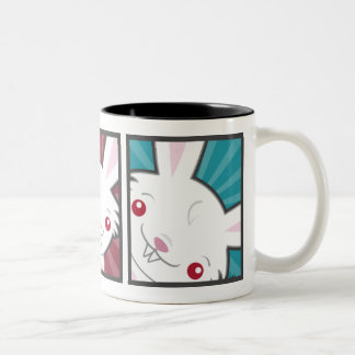Cute Vampire Bunny Rabbit (White) Kawaii Two-Tone Coffee Mug