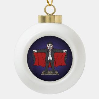 Cute Vampire Ceramic Ball Christmas Ornament