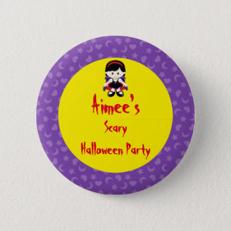Cute Vampire Girl Halloween Party 2 Inch Round Button