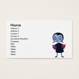 cute vampire school girl business card