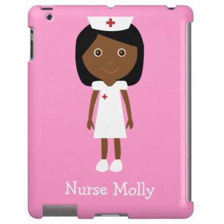 Cute Vector Cartoon Ethnic Nurse Personalized Pink